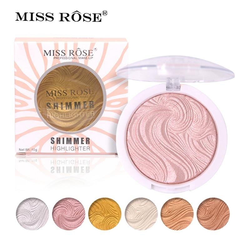 Miss Rose Base Makeup Highlighter Mencerahkan Mudah dipakai Palet - Riasan
