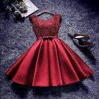 Короткое платье для выпускного вечера es длиной до колена атласное выпускное платье для женщин короткое Кружевное платье для выпускного веч