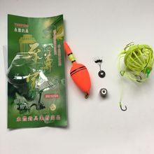 Hot Sale New Fishhooks High Quality Explosion Hook with 8-12# Fishing Hooks Fish Bait float lead Fishing Tackle kit set