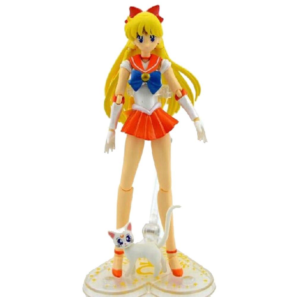 SHF S.H.Figuarts Pretty Guardian Sailor Moon Sailor Venus Sailor Moon 15cm/5.9 Action Figure New in Box Free Shipping