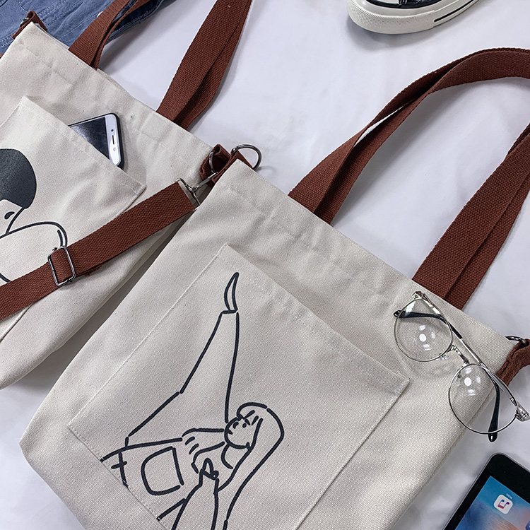 Lona dos desenhos animados crossbody sacos de