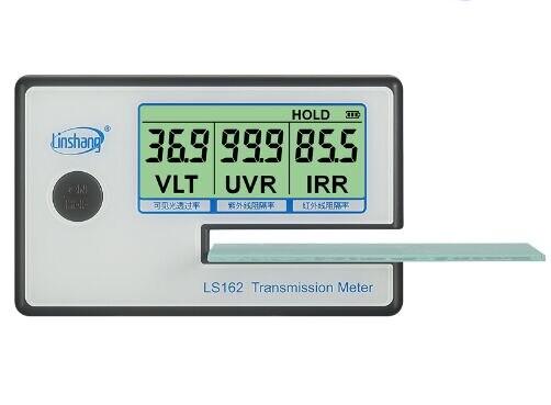 Transmission Meter,LS162 Solar Film Window Tint Transmission Meter,Filmed Glass Tester ,VLT Transmittance Meter UV IR Rejection