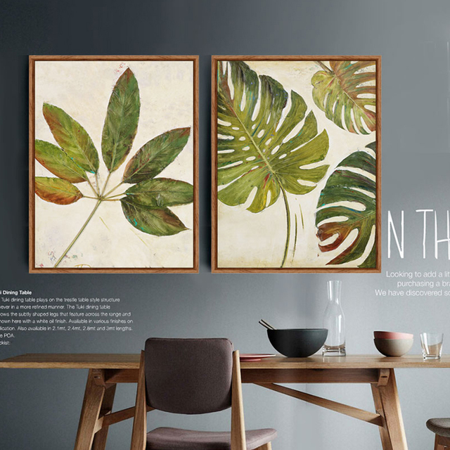 Tree Leaf Foliage Oil Painting Canvas Prints Wall Art Home Decor