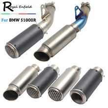 S1000R Street Motorcycle Exhaust Link Pipe Muffler Stainless Steel Carbon Fiber Exhaust Slip On Tube For BMW S1000R