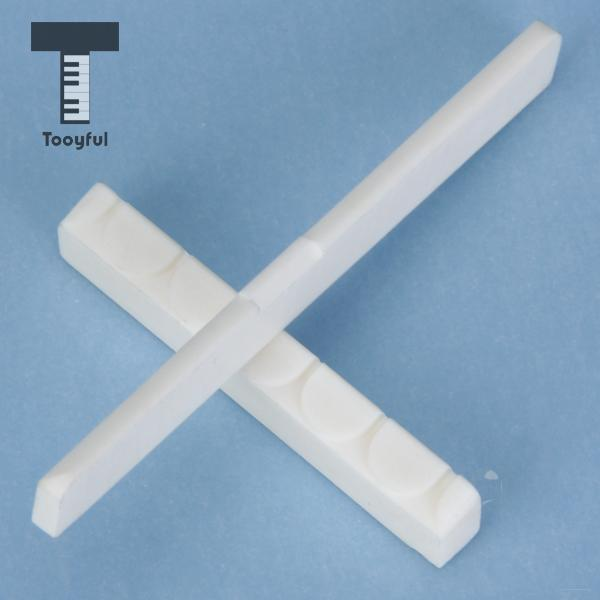 Tooyful High Quality A White Replacement Buffalo Bone Bridge Saddle And Nut Set for Clas ...