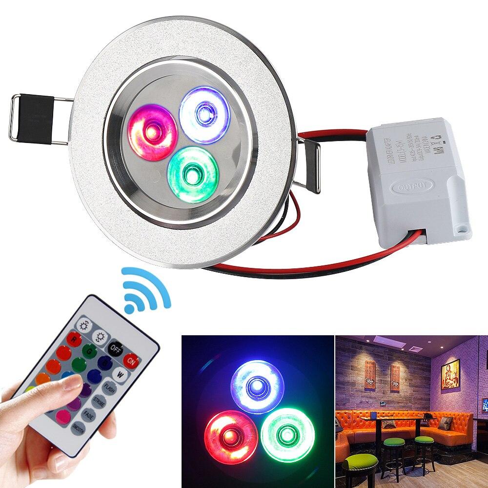 multicolor led ceiling light recessed spot light ac85 265v. Black Bedroom Furniture Sets. Home Design Ideas