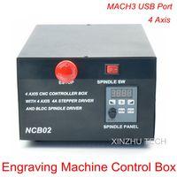 MACH3 USB Port 4 axis Montion Controller BOX NCB02_USB CNC Engraving Machine Control Box 4axis USB Interface CNC Controller