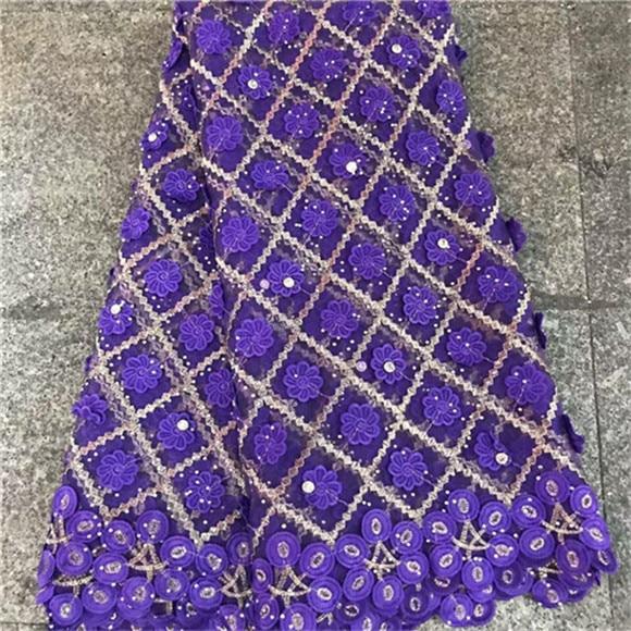 Ev ve Bahçe'ten Dantel'de Ağır Fransız Dantel 3 D Nakış mor taşlar Ile 5 bahçesinde Yumuşak tül net dantel Kumaş için parti düğün elbise'da  Grup 1