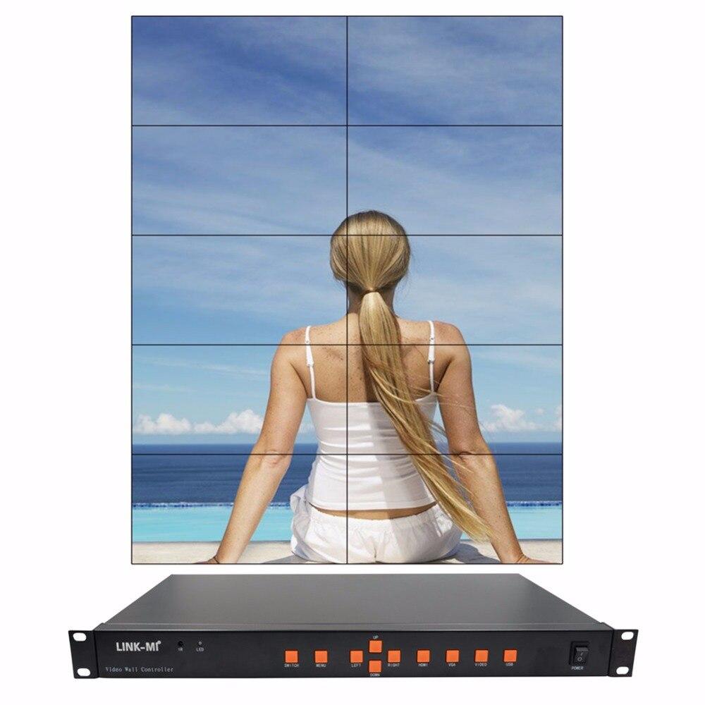 Video Wall Controller 2x2 2x3 3x2 2x4 4x2 2x5 5x2 USB/HDMI/VGA/AV TV processor 10 TV shows a screen splicing For LED/LCD Display wavelets processor