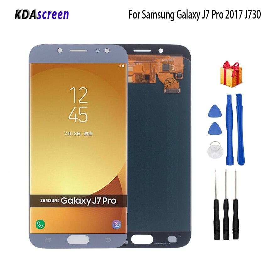 AMOLED pour Samsung Galaxy J7 Pro 2017 LCD écran tactile numériseur J730 J730F écran d'affichage LCD pièces de téléphone J7 2017 LCD