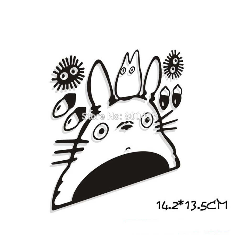 Newest Car-Styling Funny Cartoon Lovely Cat Totoro Car Stickers Car Decals for Toyota Ford Focus 2 Chevrolet VW Opel Tesla Lada