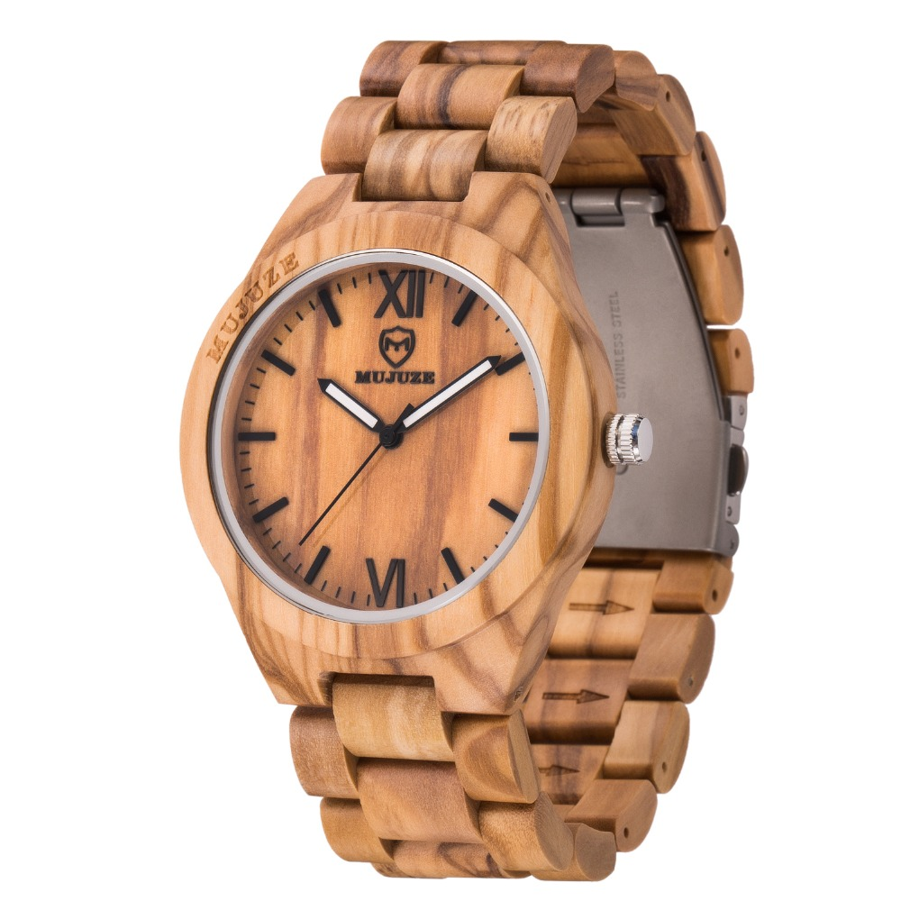 Natural Handmade Fashion Wooden Watches For Men Male High Quality wrist Watch Bamboo Wooden Watches Men gift erkek kol saati aa wooden watches w1 orange aa wooden watches