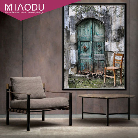 Miaodu 3D Door Landscapes DIY Embroidery Diamond Painting Full 5D Cross Stitch Kits Mosaic Paintings Wall Sticker Wedding gift Lahore