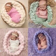 Taking Pictures Blanket Newborns Hand-woven Twist Braid