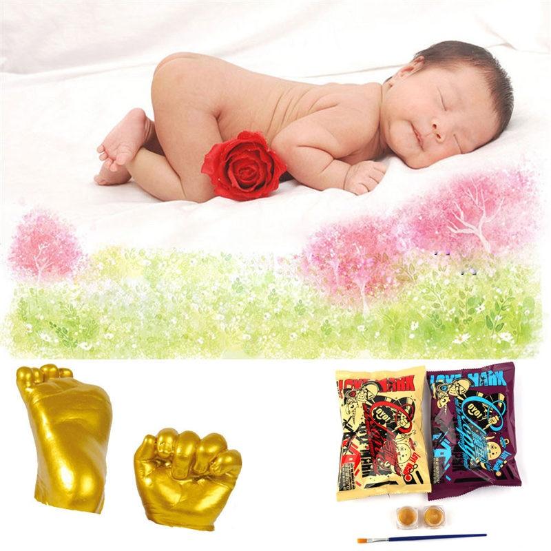 2018 3D Plaster Handprint Footprint Baby Mould Hand&Foot Casting Prints Kit Cast Gift Katana Bedroom Decor Room Decoration