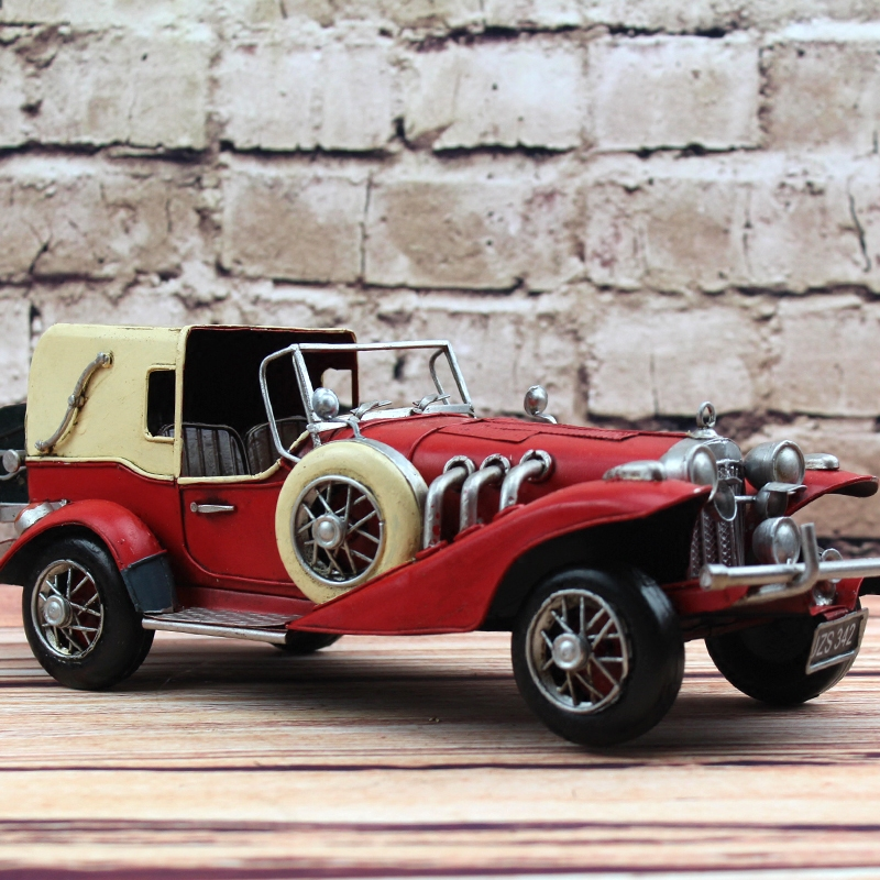 1962 Retro Classic Car Model 100% Handmade Old Iron Sheet Model Rolls Royce 1:12 Retro Metal Dectoration Pub CAFE retro tinplate metal motocross models collection classic handmade arts and crafts dirt bike model