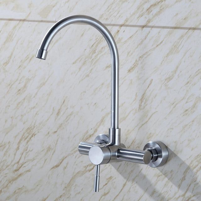 Edelstahl küchenarmatur küchenspüle wasserhahn wand küchenarmatur ...