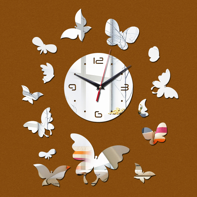 2017 New Time Limited Limited Yes Mirror Wall Clock Clocks Acrylic Safe  Living Room Design ...