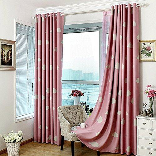 MYRU High Quality Baby Curtains Childrens Cheap Blackout CurtainsBlue And White Window DrapesKids Bedroom Clouds
