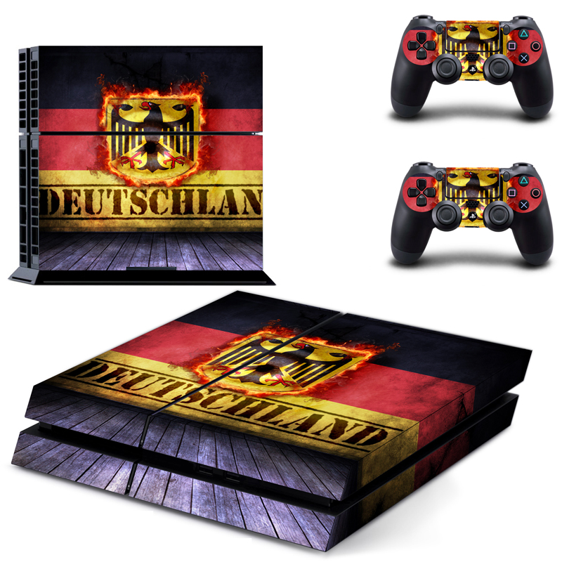 HOMEREALLY PS4 Skin Classic DEUTSCHLAN Flag PVC Sticker Cover For Sony Playstaion 4 Console and Controller Ps4 Skin Accessory