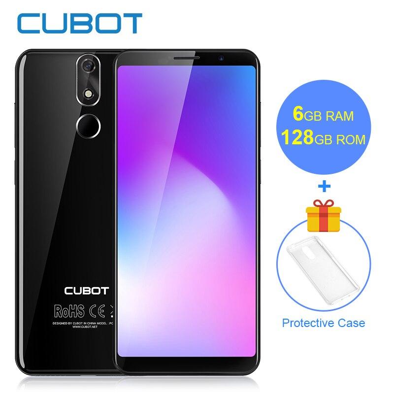Cubot Puissance 6 gb RAM 128 gb ROM Android 8.1 18:9 5.99 'FHD + Plein Écran MT6763T Octa-Core 6000 mah Téléphone Double 4g réseau 6 p Lentille