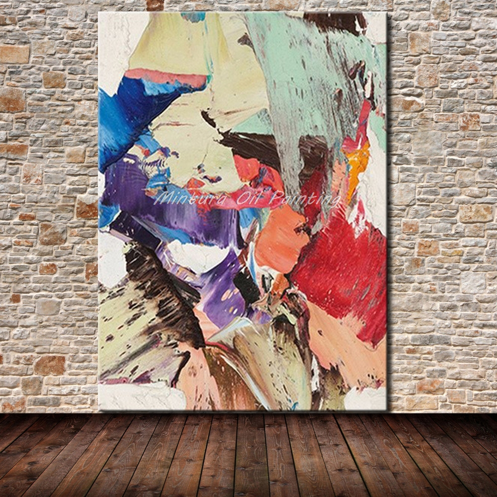 b1bf1157e1 Mintura Art Hand Painted Abstract Oil Painting On Canvas Pop Art Modern  Wall Art Pictures For Living Room Home Decor No Framed