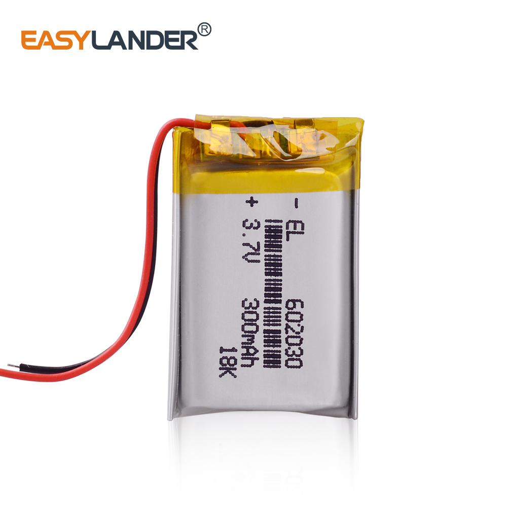 3pcs/Lot 3.7V 300mAh Rechargeable li Polymer Li-ion Battery For bluetooth headset mouse Bracelet Wrist Watch <font><b>602030</b></font> 062030 image