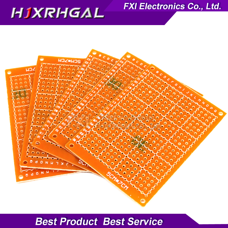 10Pcs 5x7cm 5*7 New Prototype Paper Copper PCB Universal Experiment Matrix Circuit Board  Igmopnrq