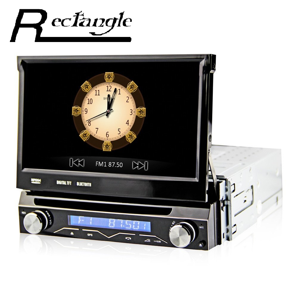 Nueva 7 pulgadas 1 Din Universal de Coches Reproductor de DVD de Navegación GPS