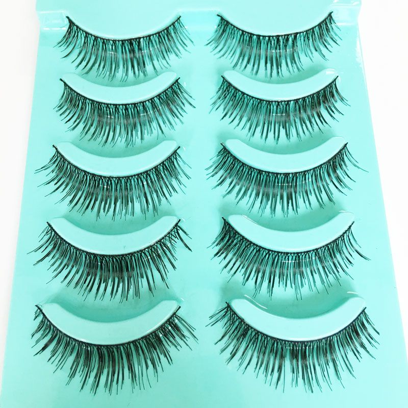 <font><b>5</b></font> <font><b>Pairs</b></font> Natural Long <font><b>False</b></font> <font><b>Eyelashes</b></font> Makeup Fake Eye Lashes For Girls Beauty Cosmetic <font><b>False</b></font> Lashes <font><b>Eyelashes</b></font> <font><b>Extensions</b></font>