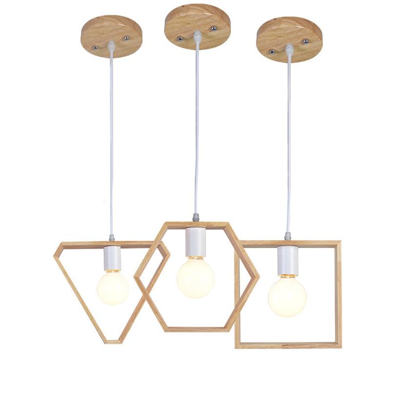 Nordic Wood Pendant Light E27 Hanging Lamp Pendant Lights For Dining Living Room Vintage Hanglamp Lighting Fixtures AC110V/220V diy pendant lights modern nordic retro hanging lamps edison bulb fixtures spider ceiling lamp fixtures light for living room