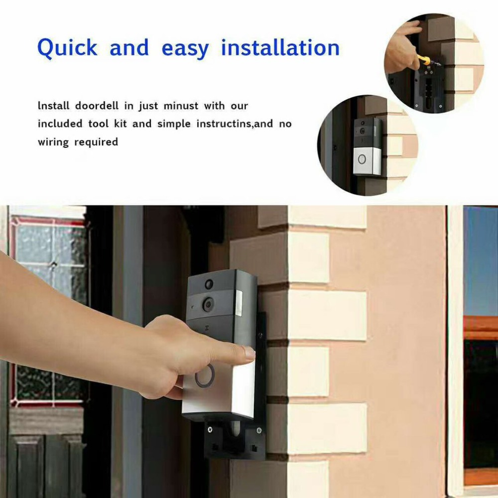 Leshp Wifi Video Doorbell Wireless 10mp Hd Camera Night Vision Two Simple Way Communication Intercom Circuit Schematic Diagram Audio Waterproof Pir Motion Detection In From
