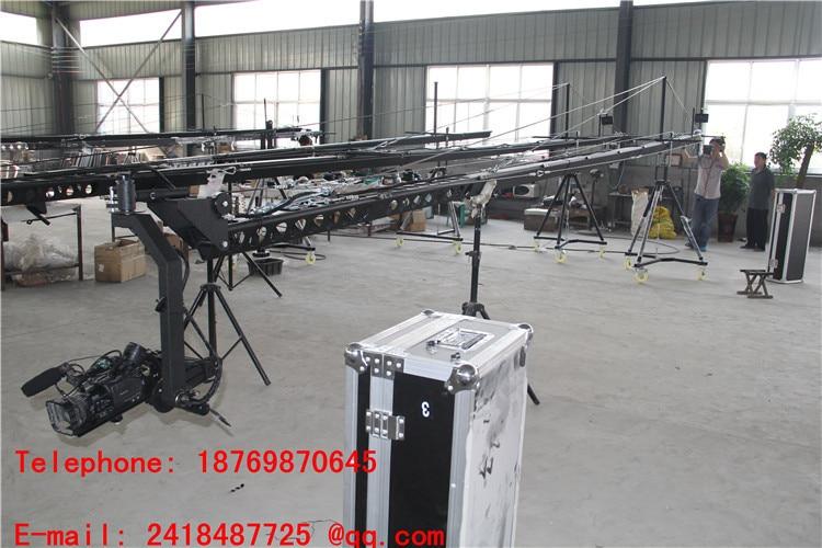 Potence grue 3 axes motorisée tête hollandaise 8 m broastcasting dslr grue vidéo approvisionnement d'usine