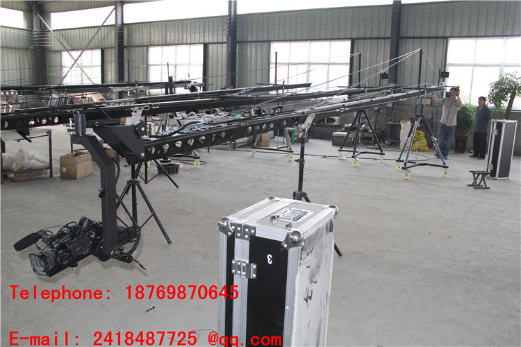 jib crane 3-axis motorized dutch head 8m broastcasting dslr crane video Factory supply professional dv camera crane jib 3m 6m 19 ft square for video camera filming with 2 axis motorized head