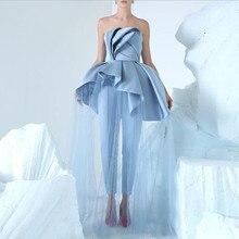Blue Prom Women Dresses