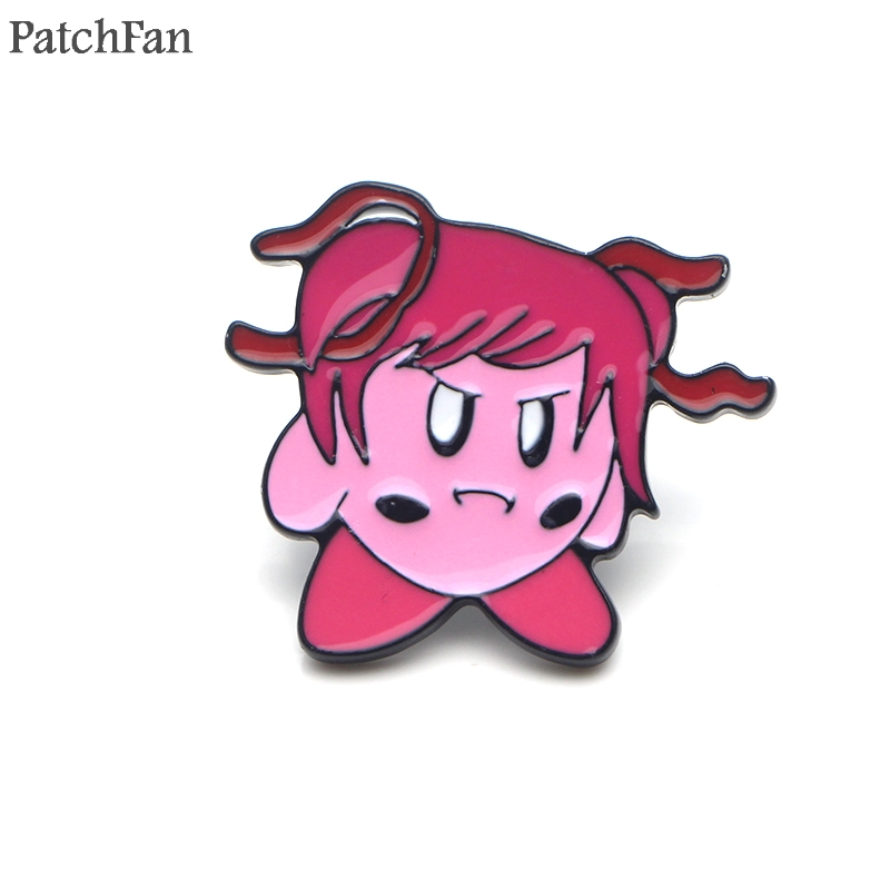 Patchfan Doki Doki Literature Club minika Zinc tie Pins backpack clothes brooches men women hat decoration badges medals A1836 in Badges from Home Garden