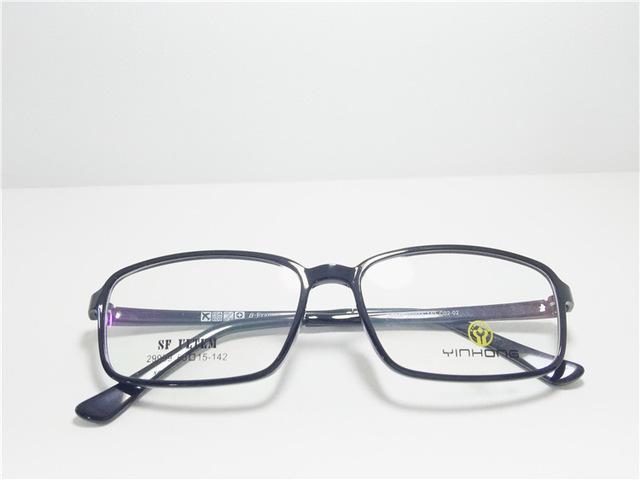 Exceder luz tungstênio titanium aço plástico armação de óculos senhora alta arquivos vai homem maré miopia miopia óculos oculista