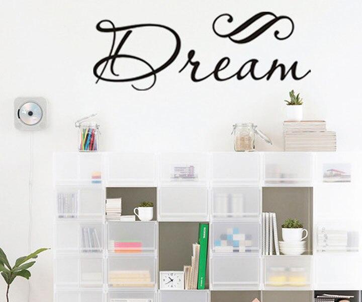 New Design Dream Vinyl Wall Sticker Home Decor For Bedroom Hopeful Quotes MuralsChina