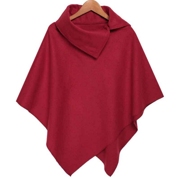 2018 New Women Loose Batwing Sleeve Long Poncho Cape Irregular Hem Solid Woolen Plus Size Coat Shawl in Wool amp Blends from Women 39 s Clothing