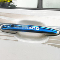 Luhuezu 8pcs Stainless Steel Door Handle Cover For ToyotaLand Cruiser Prado LC120 FJ120 2003 2009 Accessories