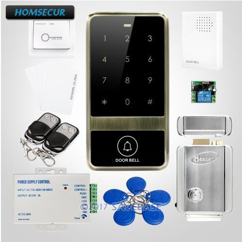 HOMSECUR Waterproof Zinc Alloy Case Access Control With Touch Keypad + Electric Control LockHOMSECUR Waterproof Zinc Alloy Case Access Control With Touch Keypad + Electric Control Lock