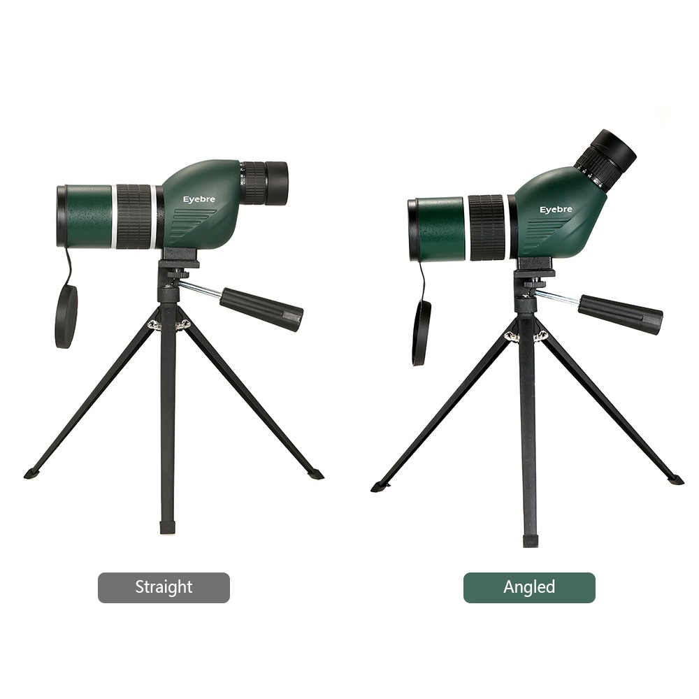 eyebre 12-36x50 Straight/Angled Spotting Scope with Tripod Portable Hunting Scope Monocular Telescope with Carry Bag for Camping