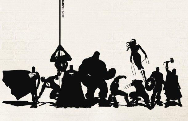 Envío Libre DIY Pared De Vinilo Marvel U0026 DC Avengers Anime Dibujos Animados  Arte Vinilo Decalque