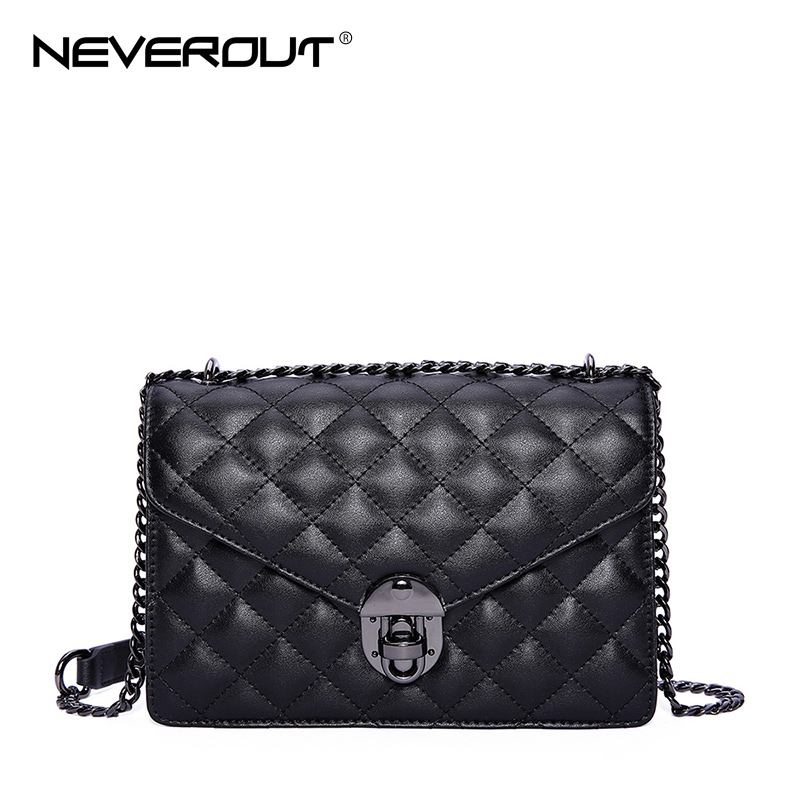 NEVEROUT Sheepskin Small Flap Crossbody Bags Classic Quilted Fashion Shoulder Bag Women Messenger Bags Luxury Real