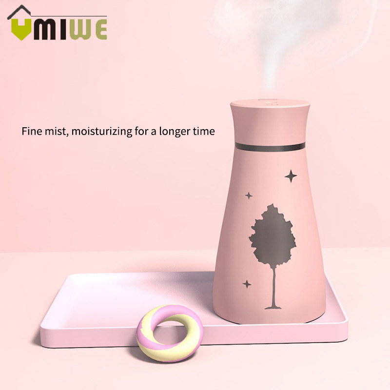 Maple Leaf Air Humidifier USB  Purifier With Led Night Light Ultrasonic Essential Oil Diffuser For Car Office Desk Home Birthday