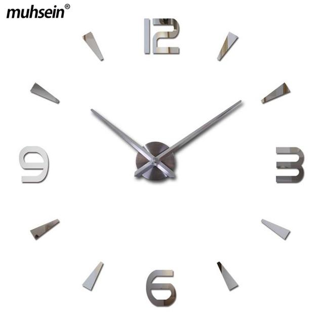 2018 Watch Living Room Large Stickers New Wall Clock Reloj de Pared Quartz Decorative Clocks Modern Horloge Murale Free Shipping