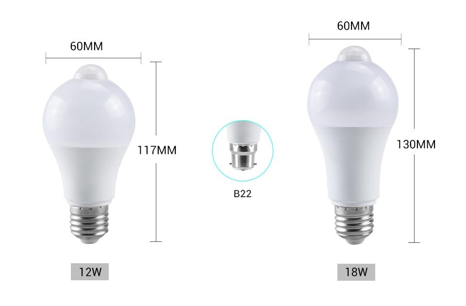 Smart PIR Motion Sensor LED Lamp Light (3)