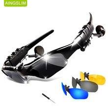 Gafas de sol con Bluetooth para exteriores, lentes de sol inteligentes con Bluetooth, auriculares inalámbricos, Auriculares deportivos con micrófono para teléfonos inteligentes