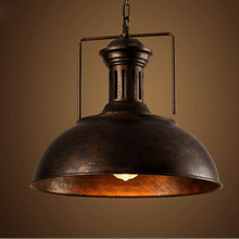 Nordic Black Industrial Wind Pendant Lights Vintage Loft LED Iron Lampshade Pendant Lamp Dining Room Cafe Bar Decor Hanging Lamp(China)