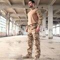 2017 Multicam Camuflagem Multicam Árido Sapo Ternos Trainning MCA G3 camisa Uniformes incluem um 1/4 zip & one calças táticas